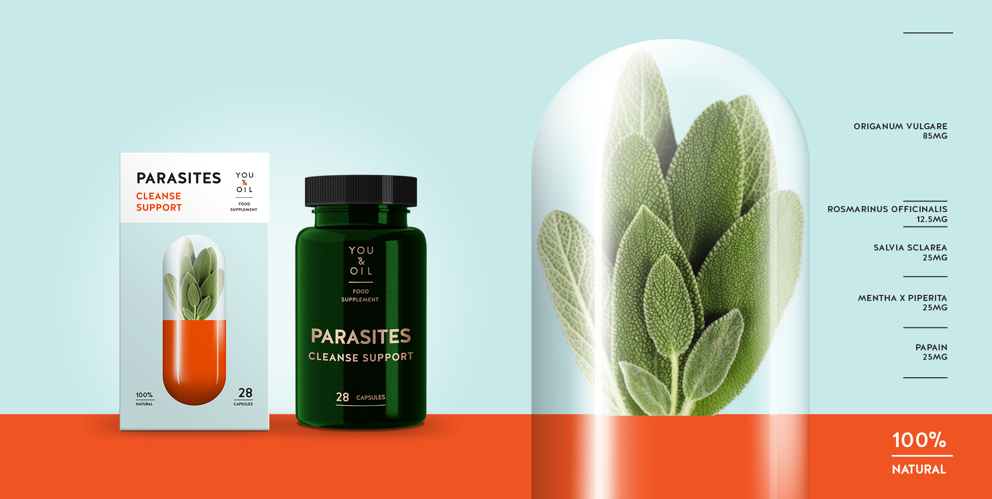 "Food supplement ""PARASITES. Cleanse suport"""