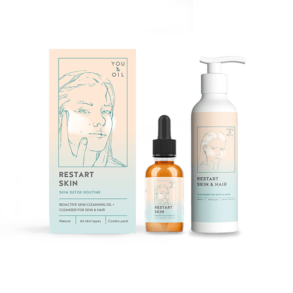 590Restart Skin. Cleansing Oil + Cleanser