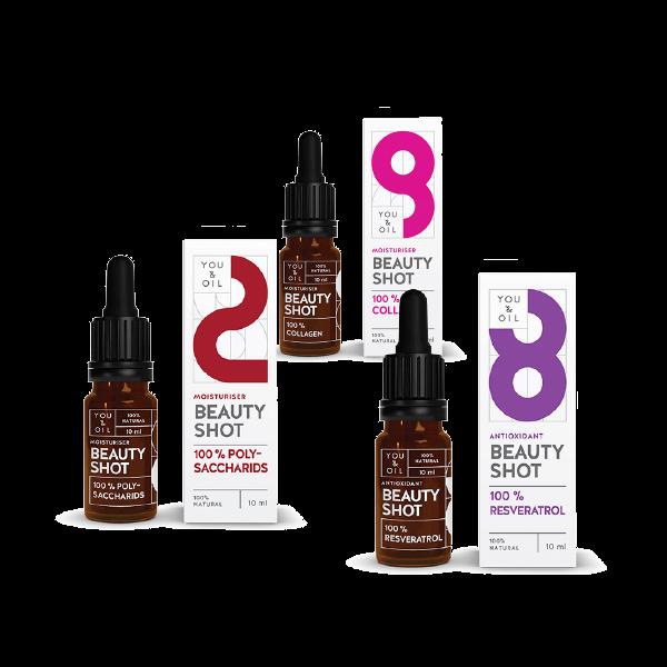 12370Polysaccharids Beauty Shot + Collagen Beauty Shot + Resveratrol Beauty Shot